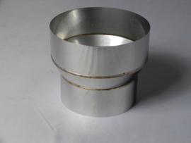 Verloopstuk conische rvs 79 - 150 mm