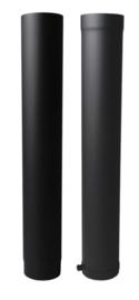 EW/130 2mm Paspijp 100cm met verjongen - antraciet