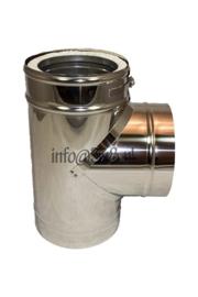 DW150/200mm T-stuk met dop ZWART