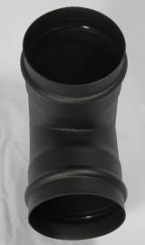 EW/Ø100 T-stuk - zwart