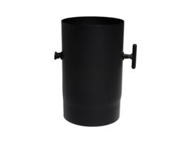 EW/125 2mm Pijp met smoorklep - zwart