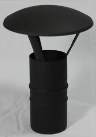 EW/Ø100 trekregenkap - zwart