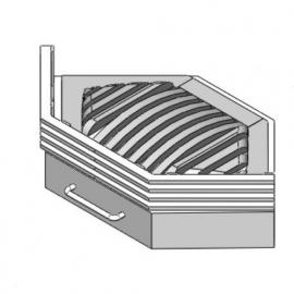 Vuurkorf modern plat In de Hoek/Ster 55 ( Zwart of Antraciet )