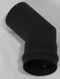 EW/Ø100 bocht 45 graden - zwart