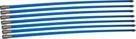 Professionele blauwe veegset 8,40m met nylonborstel