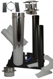 Compleet kanaal schuin golfplaten, Kunststof, staalplatendak Holetherm DW150