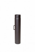 EW/Ø160 2mm Pijp 75cm met klep (Kleur: Zwart)