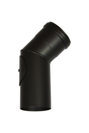Pelletkachel bocht 45° met veegluik ∅ 80mm #19-242