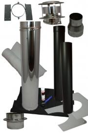 Compleet kanaal schuin golfplaten, Kunststof, staalplatendak Holetherm DW125