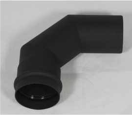 EW/Ø100 bocht 90 graden - zwart