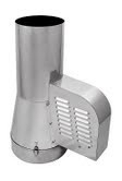 Rookgasventilator met inlaatpijp Ø150mm dia (ZWART) WN-GCK150-CH-ML-B-K