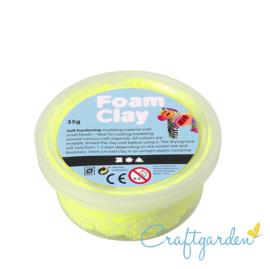 Foam Clay - Basis kleur - neon geel - 35 gram