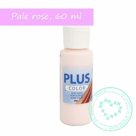 Plus color acryl verf, pale rose, 60 ml