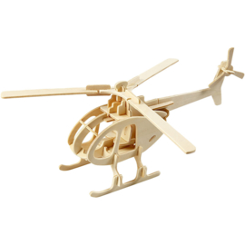 3D Houten puzzel-helicopter-26,5x14x26 cm