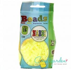 Strijkkralen - Nabbi - kleur - pastel geel - 16