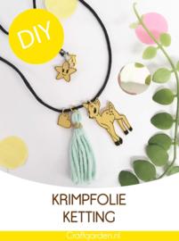 DIY - pakketje - krimpfolie - ketting -bambi