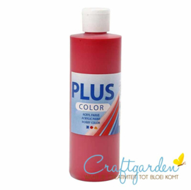 Plus color - acryl - Verf - 250 ml - Crimson Red - Rood