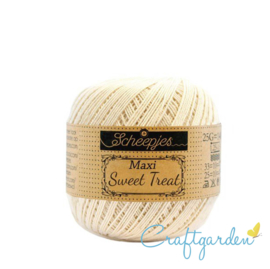 Scheepjes - maxi sweet treat - katoen - 25 gram -  Old lace - 130