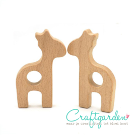 Houten - ring -  Giraffe