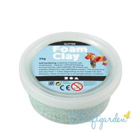 Foam Clay - glitter  - groen/blauw - 35 gram