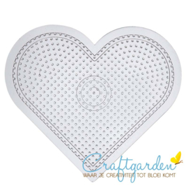 Strijkkralen - medium - grondplaat - hart- h =15 cm