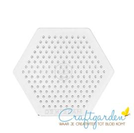 Strijkkralen - medium - grondplaat - zeshoek - 7,5 cm