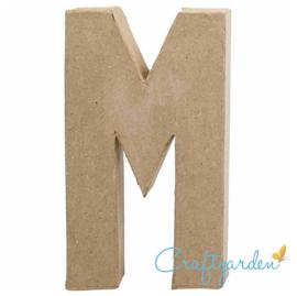 Papier Maché - Letter - M - 20.5  x 12 cm