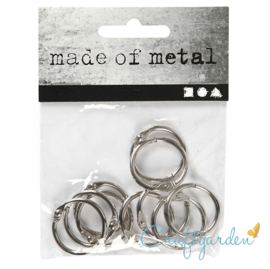 Boekbinders - ring - 10 stuks - 19 mm