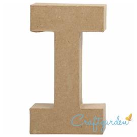 Papier Maché - Letter - I - 19,9  x 11.2 cm