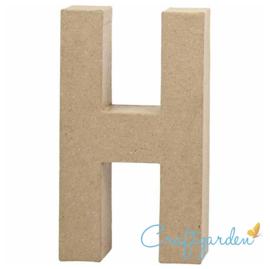 Papier Maché - Letter - H - 20,2  x 11.2 cm