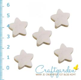 Houten kraal -  sterren - 2 cm - 5 stuks