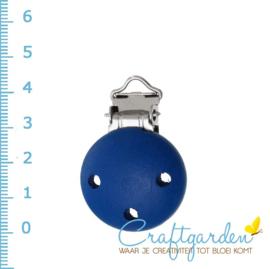 Speenclip - hout - 45mm - kobalt blauw
