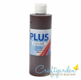 Plus color - acryl - Verf - 250 ml - Chocolate