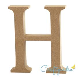 MDF - Letter - H -  13 cm x 11 cm