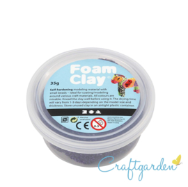 Foam Clay - Basis kleur - donker paars - 35 gram