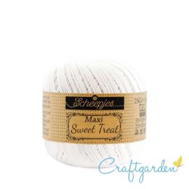 Scheepjes - maxi sweet treat - katoen - 25 gram -  snow white- 106