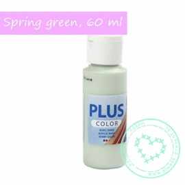 Plus color acryl verf, Spring Green, 60 ml
