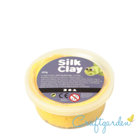 Silk Clay - Basis kleur - geel - 40 gram