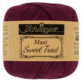 Scheepjes - maxi sweet treat - katoen - 25 gram -  bordeaux rood-750