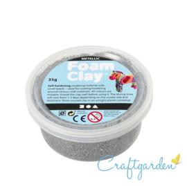 Foam Clay - metallic - zilver - 35 gram
