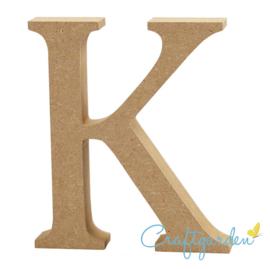 MDF - Letter - K -  13 cm x 11 cm
