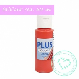 Plus color acryl verf, brilliant red,60 ml