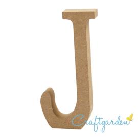 MDF - Letter - J -  13 cm x 5.5 cm