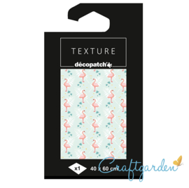 Decopatch - papier - textuur - flamingo - 783