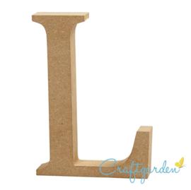 MDF - Letter - L -  13 cm x 9 cm