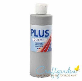 Plus color - acryl - Verf - 250 ml - Rain Grey - grijs