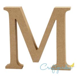 MDF - Letter - M -  13 cm x 13.5 cm