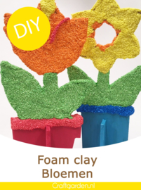 DIY-Foam clay-bloemen-pakket