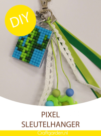 Pixel Hobby - sleutelhanger  -  cadeau pakket - cactus