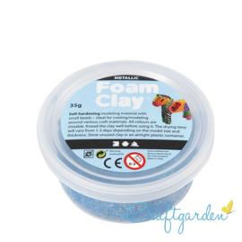 Foam Clay - metallic - blauw  - 35 gram